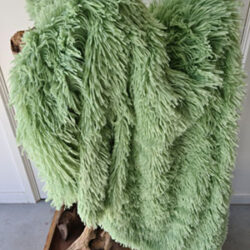 Fluffy kleed groen