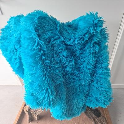 Fluffy kleed aqua