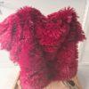 Fluffy kleed bordeaux