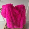 Fluffy kleed fuchsia