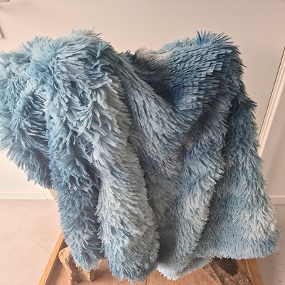 Fluffy kleed jeans blauw