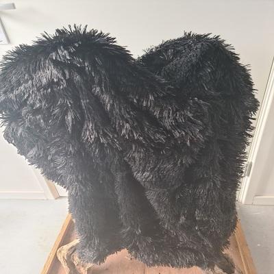 Fluffy kleed zwart